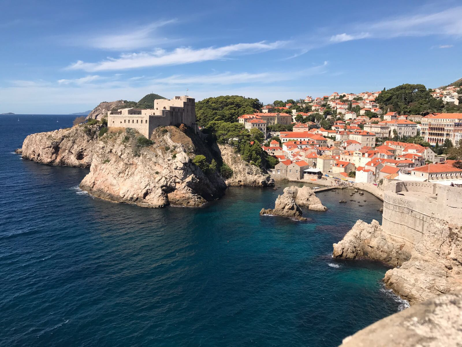 West Harbour Old Town Dubrovnik Croatia and Lovrijenac