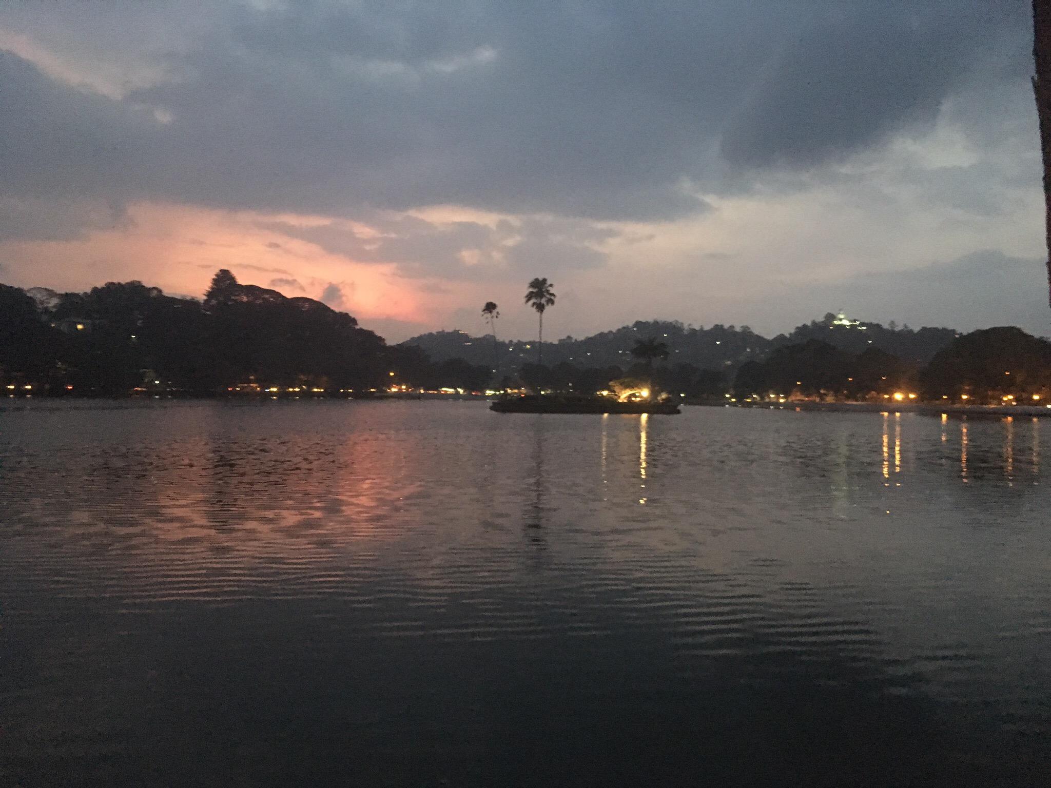 Lake in Kandy at sunset, Sri Lanka